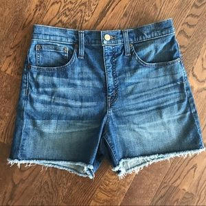 Jcrew High rise denim shorts
